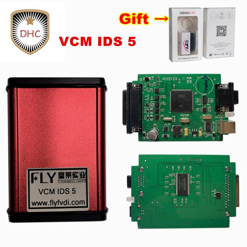 DHL free FLY brand VCM IDS 5 OBD2 Diagnostic Tool for f-o-r-d 110 01 and  ma-z-d--a 108 Auto OBD 2 Scanner vcm ids5 update freely