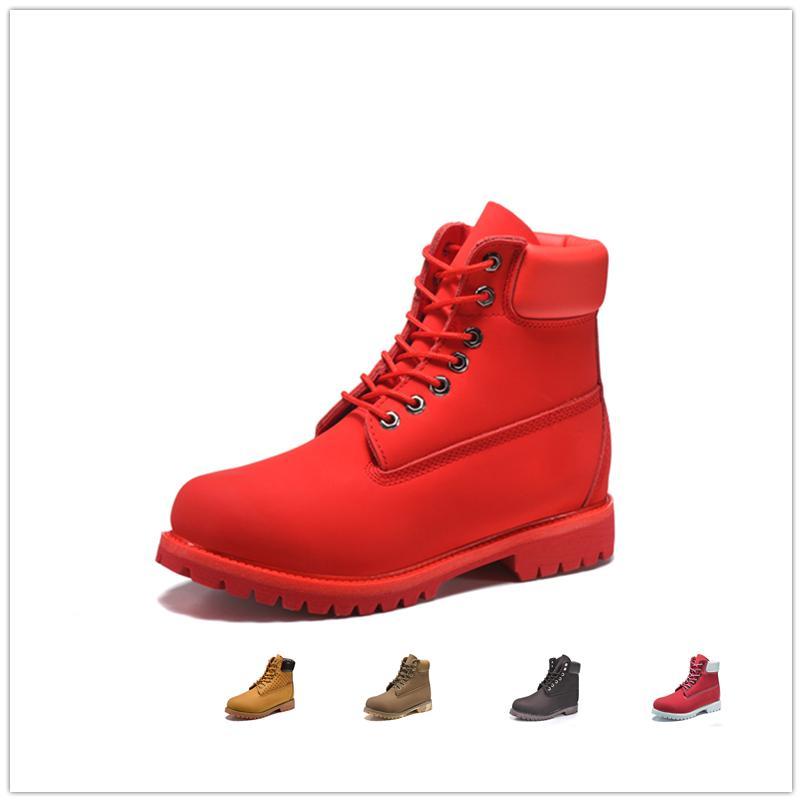 9a0082fd065 Original mens women winter boots chestnut black white red blue Grey green  womens men designer boot size 5.5-11 HOT