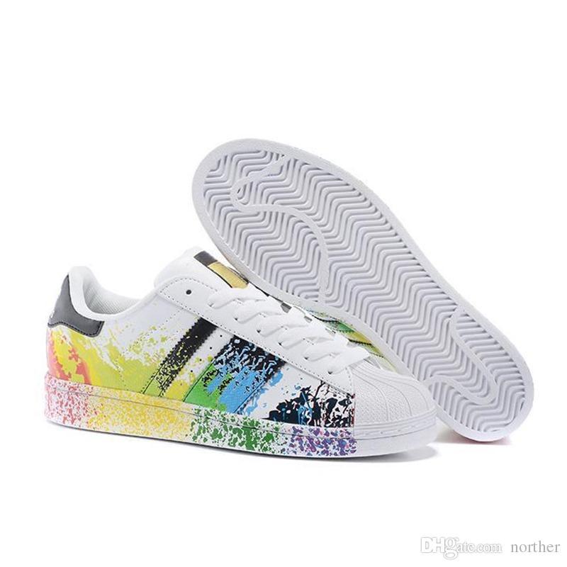 0417478c2264f Acquista 2019 A Buon Mercato All ingrosso Sconto Superstar Arcobaleno New  Low Fashion Sneaker Da Uomo 2016 Fondazione Casual Scarpe Da Tennis Sneaker  ...