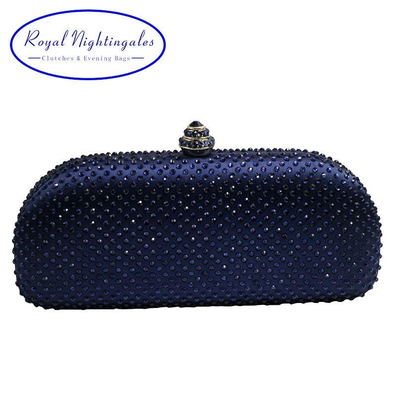 08339dfede Acheter Elegante Navy Blue Crystal Box Pochette Et Sacs À Main Strass Sacs  De Soirée # 88572 De $48.92 Du Star_shoes   DHgate.Com