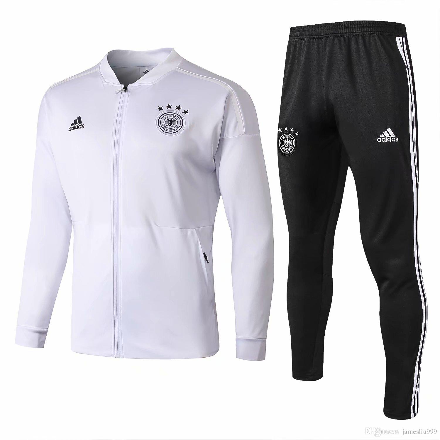 cf429049875 Germany tracksuit jackets Sportswear 1819 maillot de foot Mens tracksuits  Germany soccer jackets Long sleeve+pants Set clothing