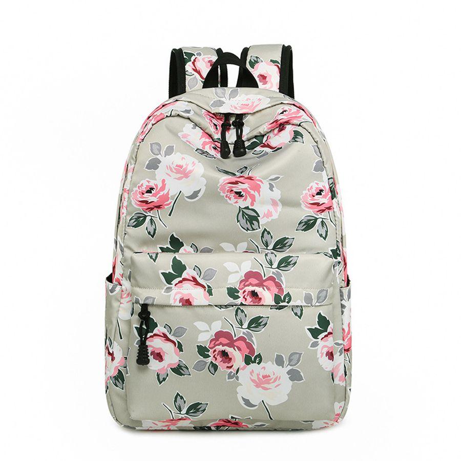 ad16a8ec5dc0 Female Nylon Floral Printed Backpacks Student Fashion Printed School Bags  Women Travel Storage Backpack Nylon School Bag LJJR401 Bags For Girls Girls  ...