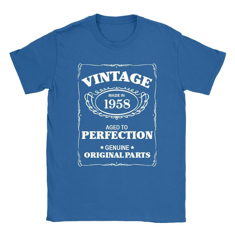 Aged To Perfection 1958 Mens T Shirt 60th Birthday 60 Years Old Gift Top Funky Shirts Online From Yuxin0007 1553