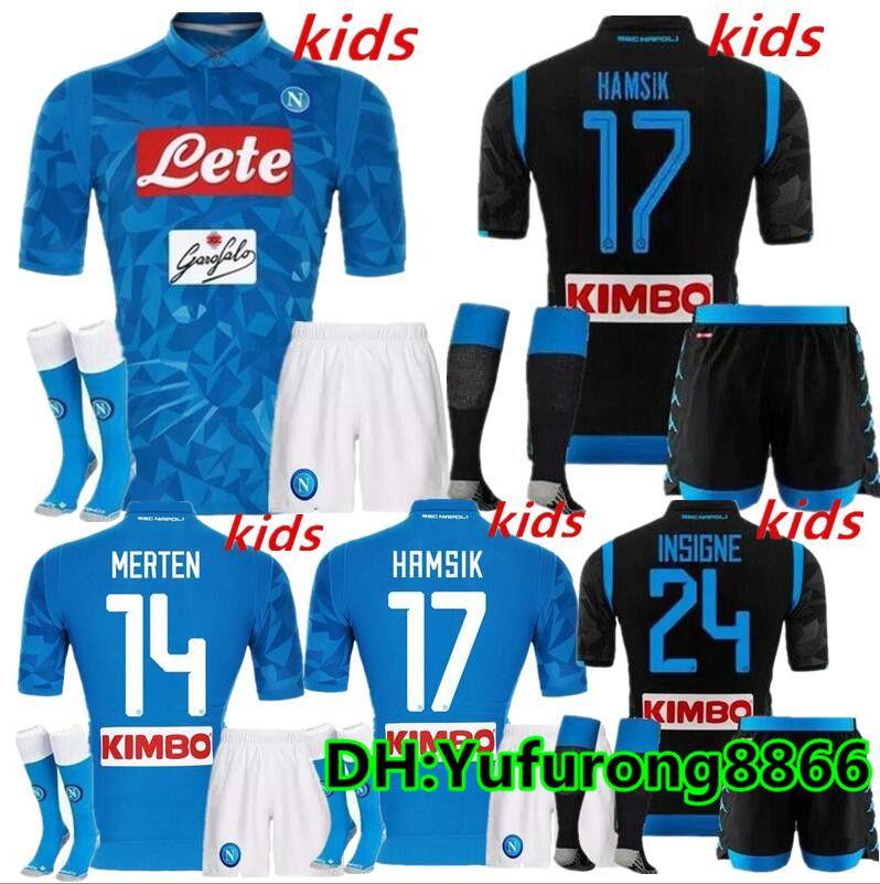 Kids Kits 2018 NAPOLI NAPLES MARADONA HAMSIK MILIK CAMISETA DE FUTBOL Soccer  Uniform Kits Soccer Jerseys Thailand Quality Football Shirts UK 2019 From  ... b45ba75879caa
