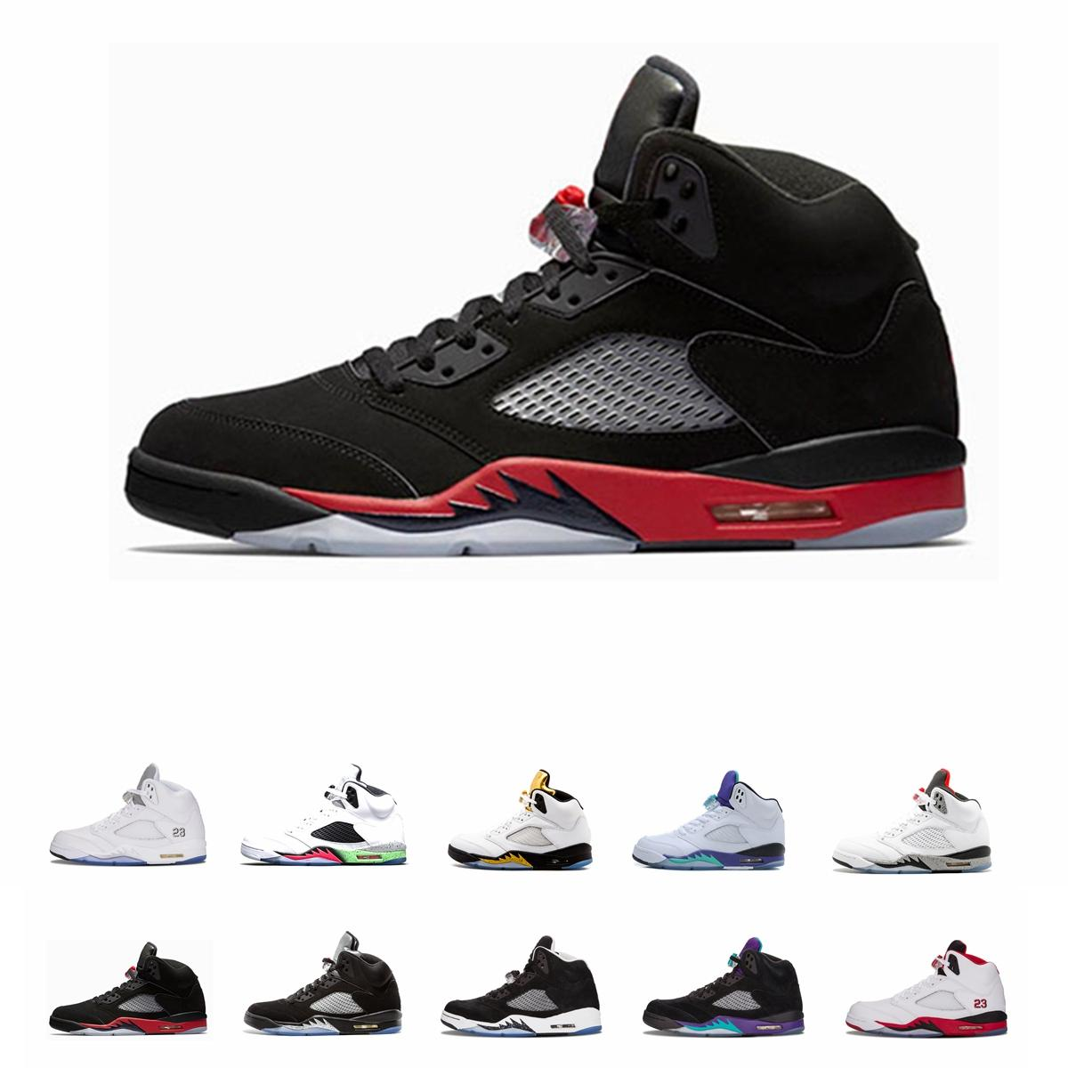Nike Air Jordan 2019 5s FAB 5 TROPHY ROOM Hombres Zapatos FIBA ​​12s Sneakerin Concord 11s Cap and Gown 13s Zapatillas de deporte para hombre Zapatillas deportivas 7-13
