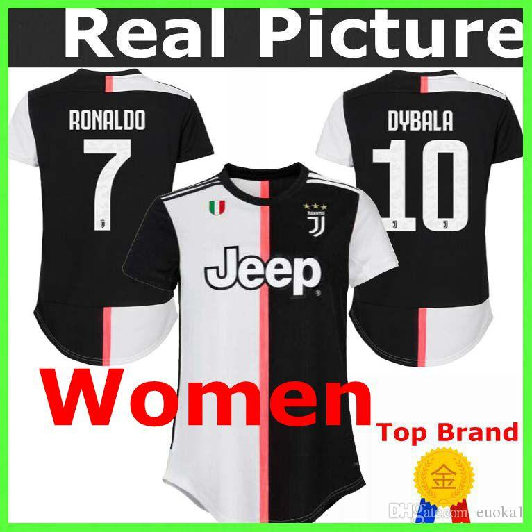 huge selection of 868c6 5856b Thailand 19 20 Juventus female, woman, girl Jersey ZIDANE DEL PIERO INZAGHI  2019 2020 Home RONALDO PIRLO Football shirts