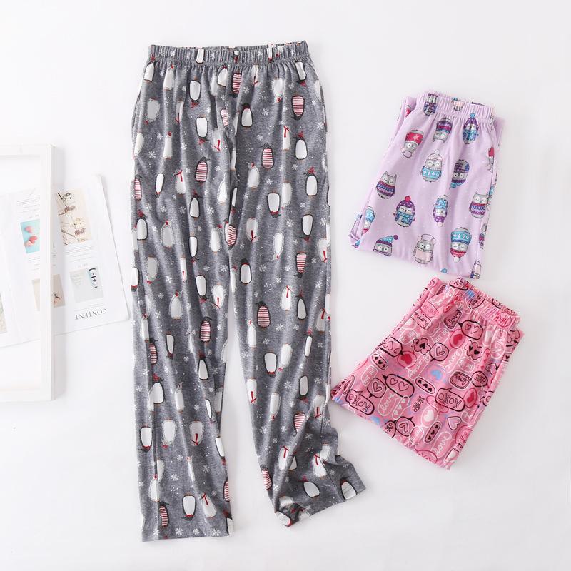 ffb99174f3b6f Acheter 2019 Printemps Coton Femmes Sommeil Bas Femme Lâche, Plus La Taille  Nuit Pantalons De Nuit Pyjama Pyjama Pantalon De Dessin Animé Pour Femmes  De ...