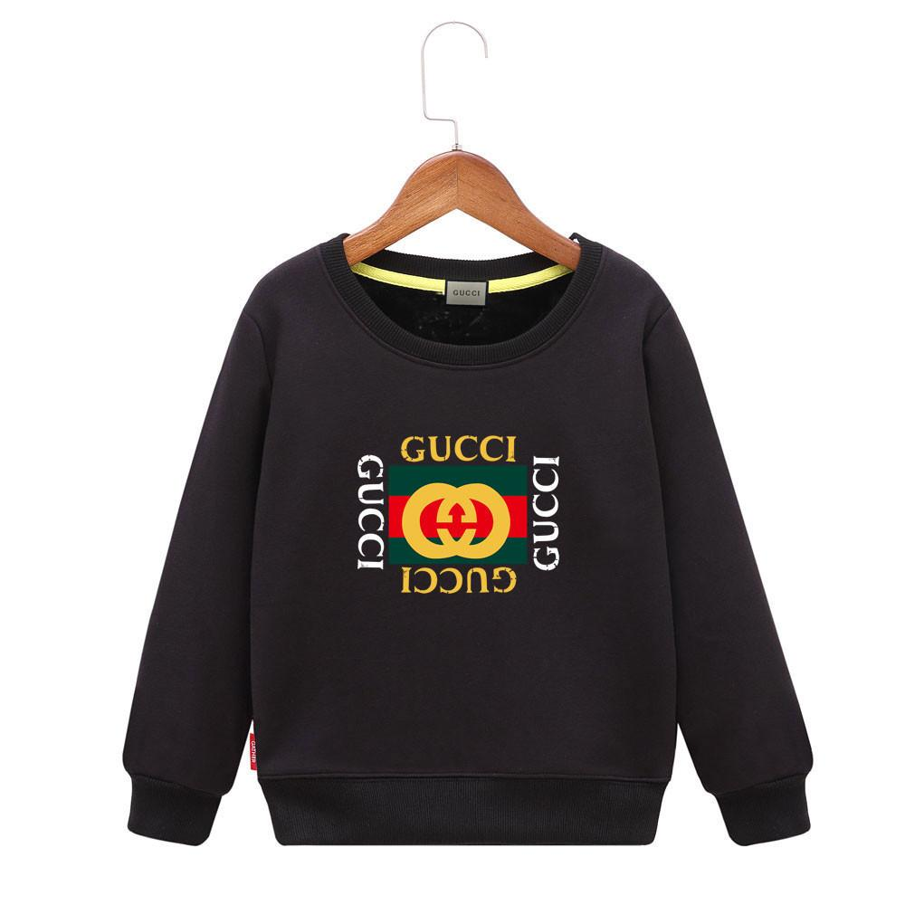 Cool Sweatshirts Children Plus Velvet Autumn And Winter 2018 New Pattern Girl Letter Sweater Even Cap Boys Jacket Thickening