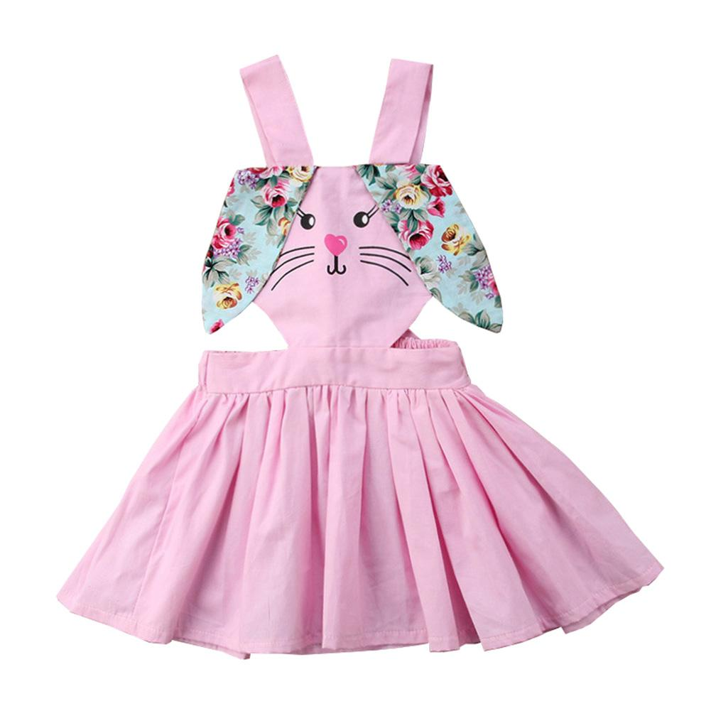 98b70e562f75b 2019 Kid Girls Bunny Easter Outfit Halter Sleeveless Romper Backless Swing  Tutu Baby Dress Summer From Beasy