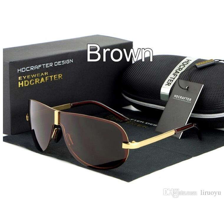 894427e8b41 HDCRAFTER Brand Latest Design Polarized Sunglasses Reflection Alloy Frame  Outdoor Anti Glare Frameless Driving UV400 Elegant Men Sun Glasses Mens  Sunglasses ...