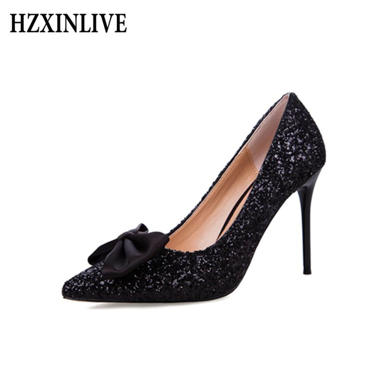 91c46d9e50 Dress Hzxinlive Sexy High Heels Women Shoes Bowknot Platform Women'S Shoes  Pointed Gold Female Shoes Fashion Luxury Ladies Shoe Mens Casual Shoes  Penny ...