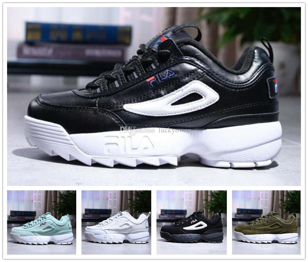 14a99bff41f3 2019 2018 New Arrival White Black Grey Yellow Fila II 2 S Women Men FILE  Special Section Sports Sneaker Running Shoes Increased Shoes 36 44 From  Luckyowen
