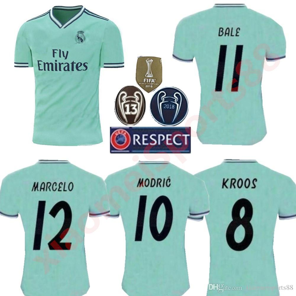 4428fc9fe 2019 2020 New Real Madrid  10 MODRIC Marcelo Kroos 19 20 Soccer Jersey BALE  ASENSIO ISCO RAMOS Champions League Home Third Kit Jersey 19 20 Real Madrid  ...