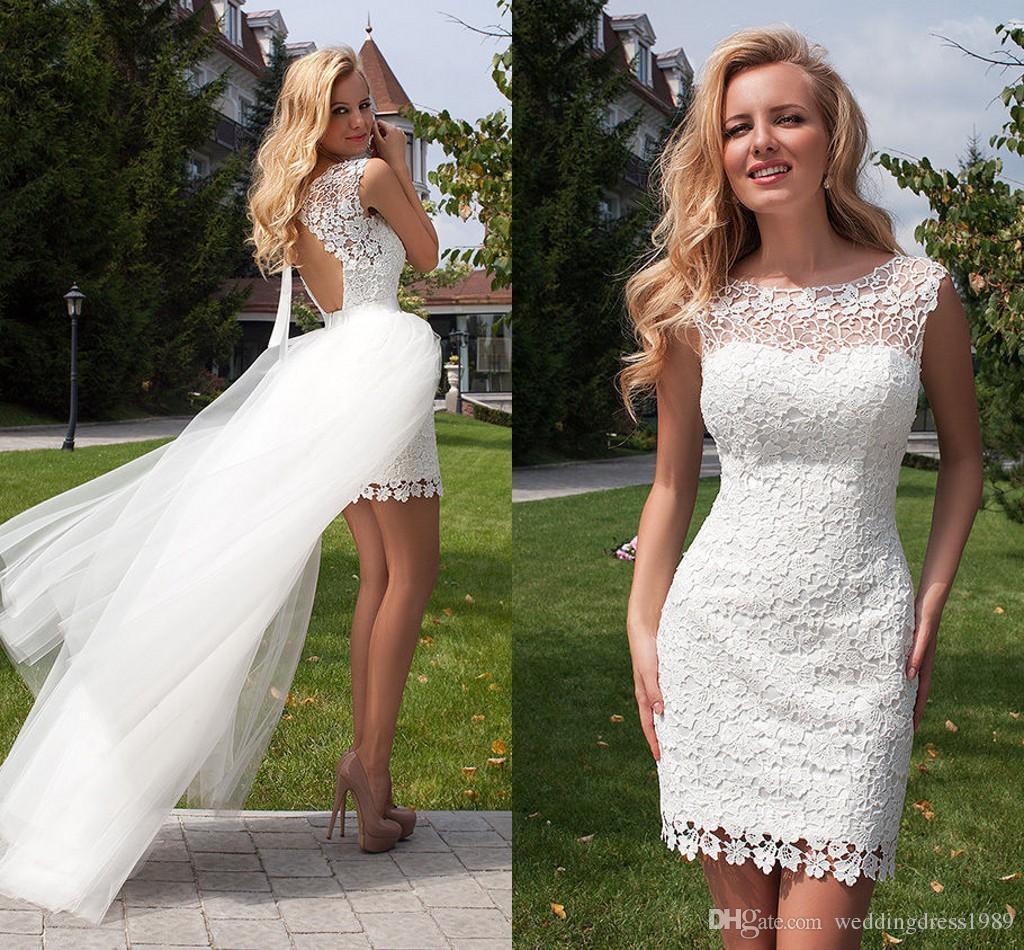 Vestidos de novia cortos en encaje