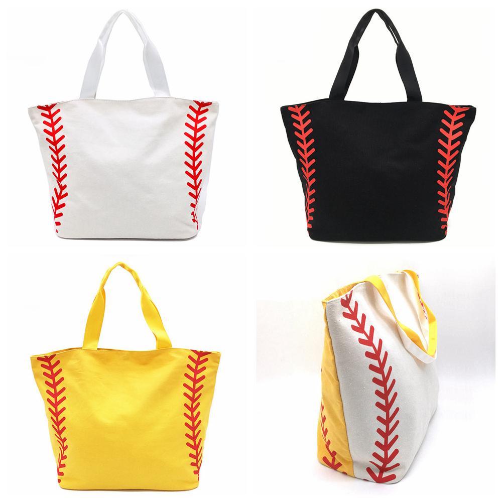 0361db8c2 4Styles Canvas Baseball Bag Tote Sports Bags Casual Softball Bag ...