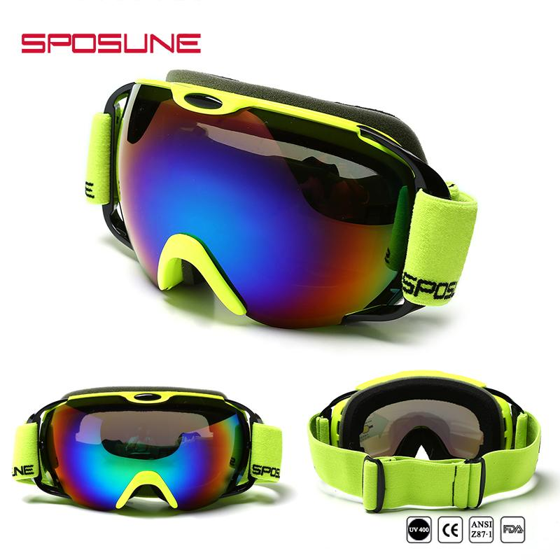 1380bc51c4a Anti-fog UV400 Double Lens Snowboard Goggles For Men Women Mountain ...