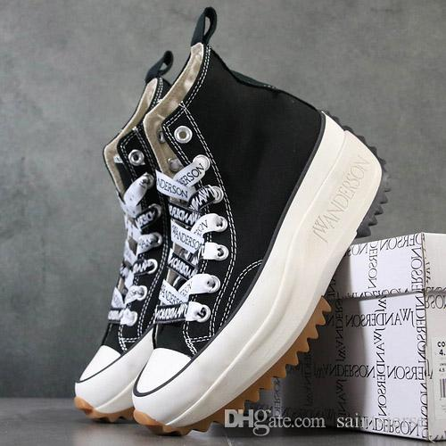 Mens JW Anderson Chuck Run Star Hike 1970s Vulcanized Shoes for Men's Platform Sneakers Male Canvas Shoe Women Wedge Sneaker Womens Sports