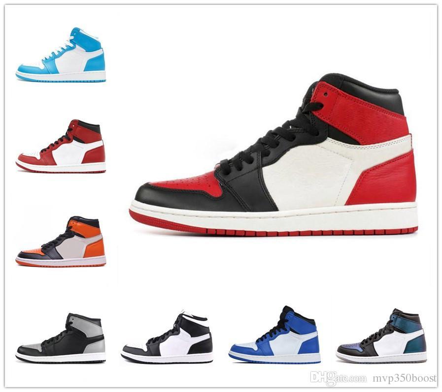 1 Hohe OG Mens Basketball Schuhe Verboten Bred Toe Schatten Gold Top Beste Qualität Designer Herren Leichtathletik Sneakers Trainer