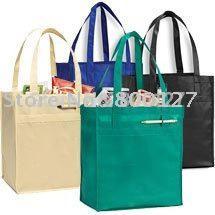 Personalized Portable Non Woven Bag Women Green Reusable Tote Bag ... 858336eee7