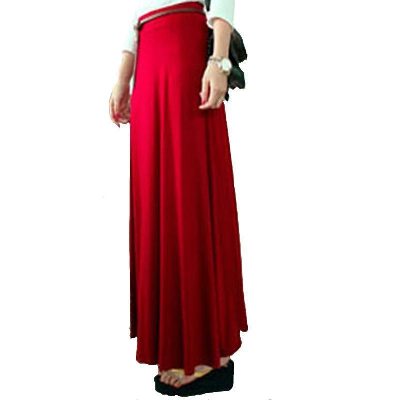 best sneakers 18db5 e7408 Gonna lunga base donna Elastico in vita nera Jersey Gonne a ruota lunga  2019 Bohemia New Fashion Casual Slim Autumn Maxi Skirt