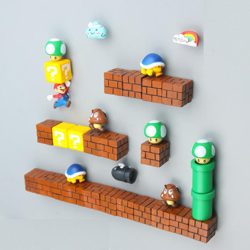 19/41pcs 3d Super Mario Cartoon Animal Fridge Magnets Whiteboard Sticker Refrigerator Magnets Kids Gift Home Decoration Y19061901