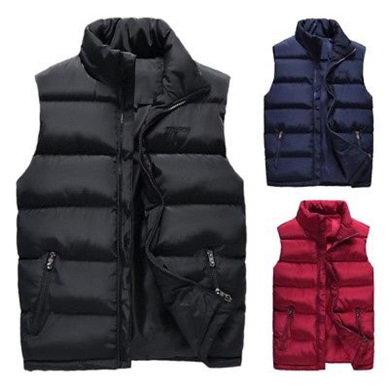 half off f75eb 8643d Cappotto imbottito senza maniche con imbottitura per uomo - Cappotto  imbottito caldo senza maniche - Cappotto invernale imbottito invernale