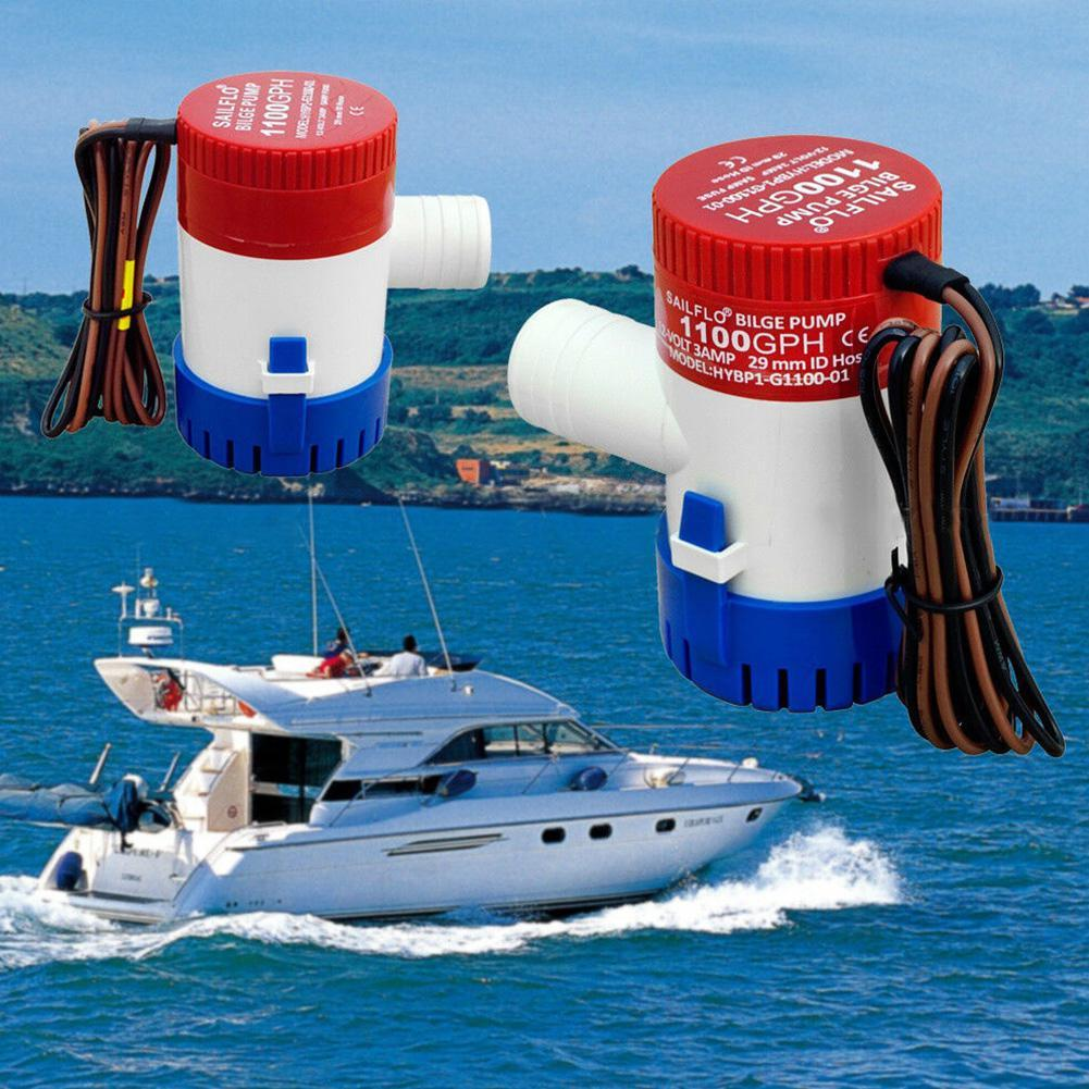 1100 GPH 12V Marine Boat Bilge Submersible Water Pump for Yacht RV SPA Pool