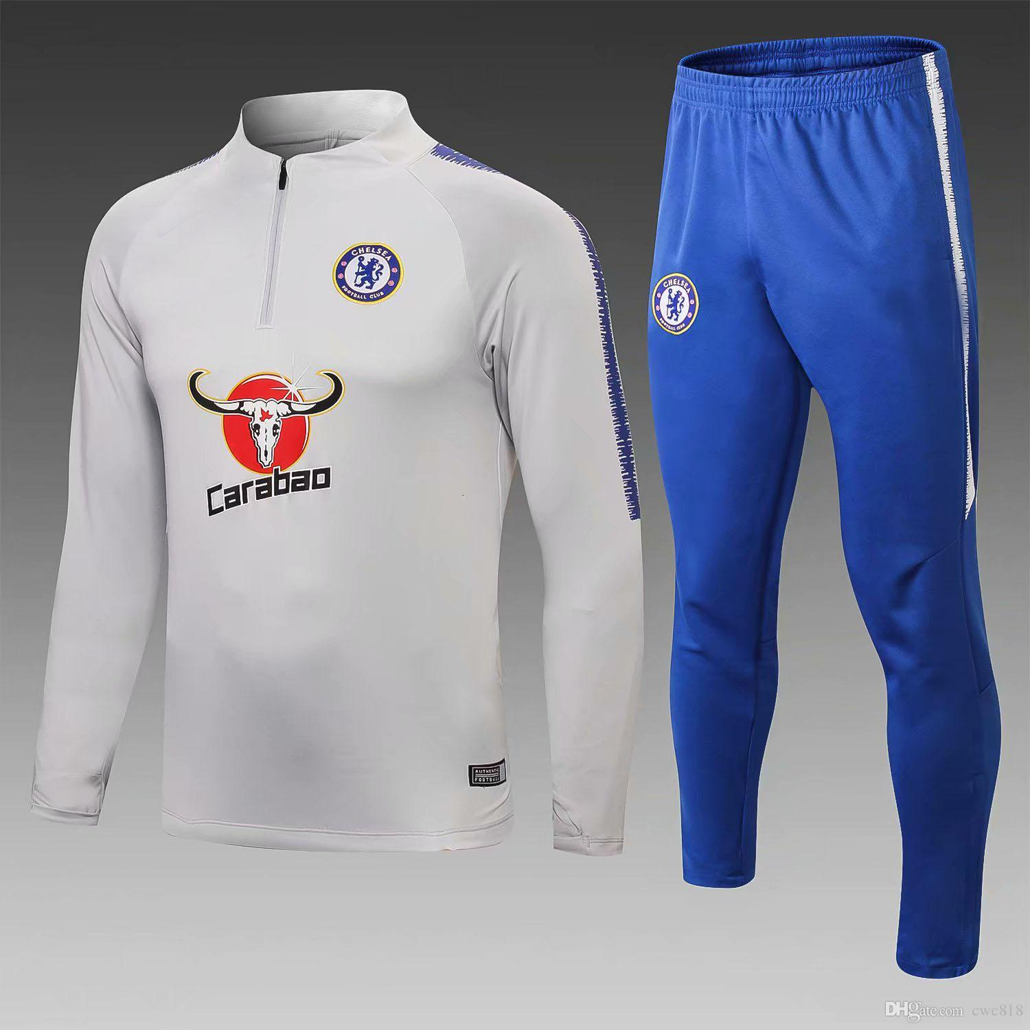 5377efbb 2019 Chelsea Training Suit Kits 2018 2019 HAZARD GIROUD KANTE MOSES Soccer  Jogging Jacket Chelsea Survetement Football Tracksuit Suit From Cwc818, ...