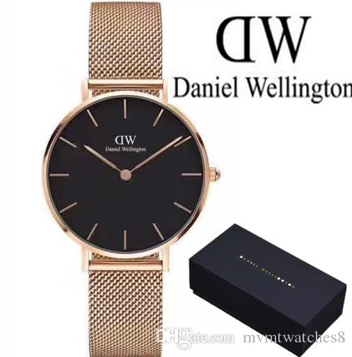 cfbe158c334d Compre Fashion Girls Steel Strip Daniel Relojes 32mm Relojes De Mujer Marca  De Lujo Reloj De Cuarzo Vestido Impermeable Para Dama Reloj Femme Relogio  Reloj ...