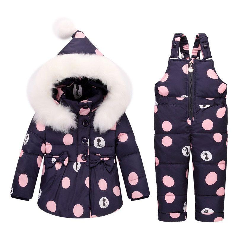 d8ec29281f56 2019 Good Quality Baby Girls Boys Clothing Set Winter Below Zero ...