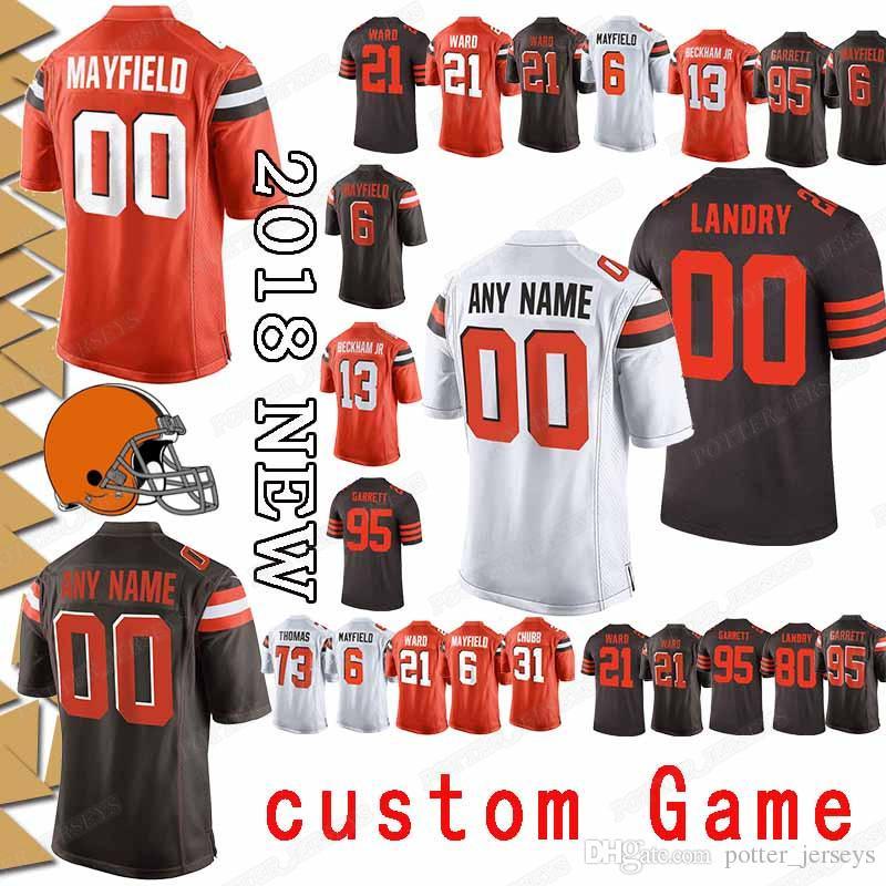 f9b40238fd3 2019 Cleveland 13 Odell Beckham Jr Browns Jersey Custom Game 95 ...