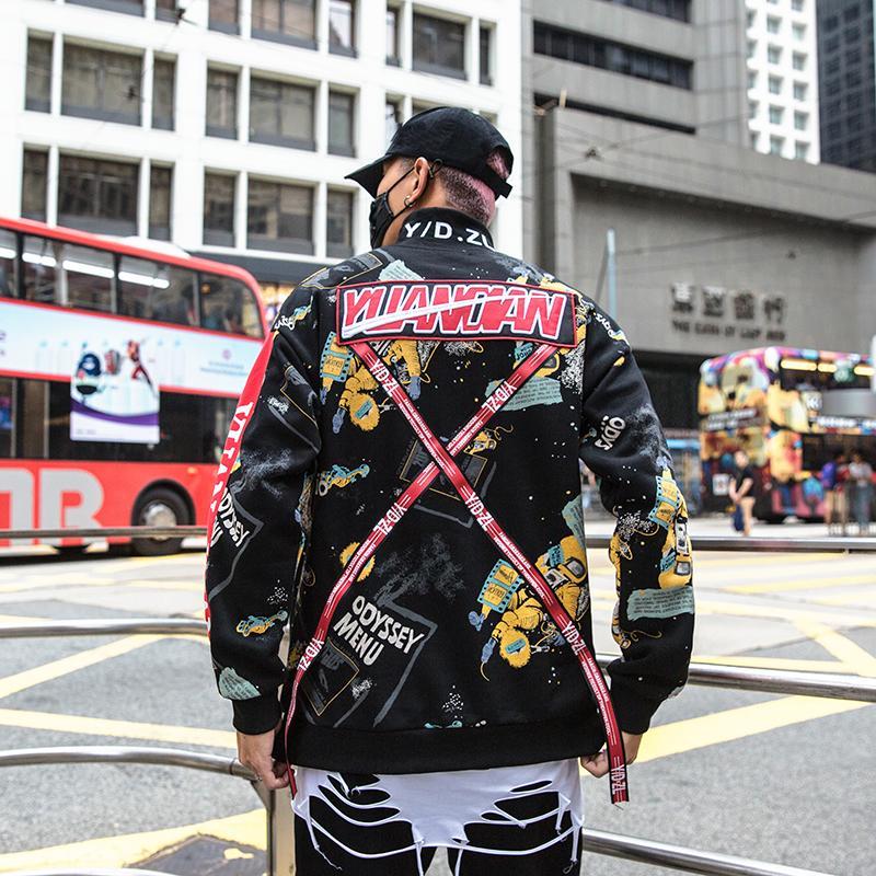Acquista Felpa Con Cappuccio Harajuku Graffiti Felpa Con Cappuccio Uomo Hip  Hop Con Cappuccio Streetwear Abbigliamento Moda Casual Pantaloni A Vita  Bassa ... 0f0d58255ca7