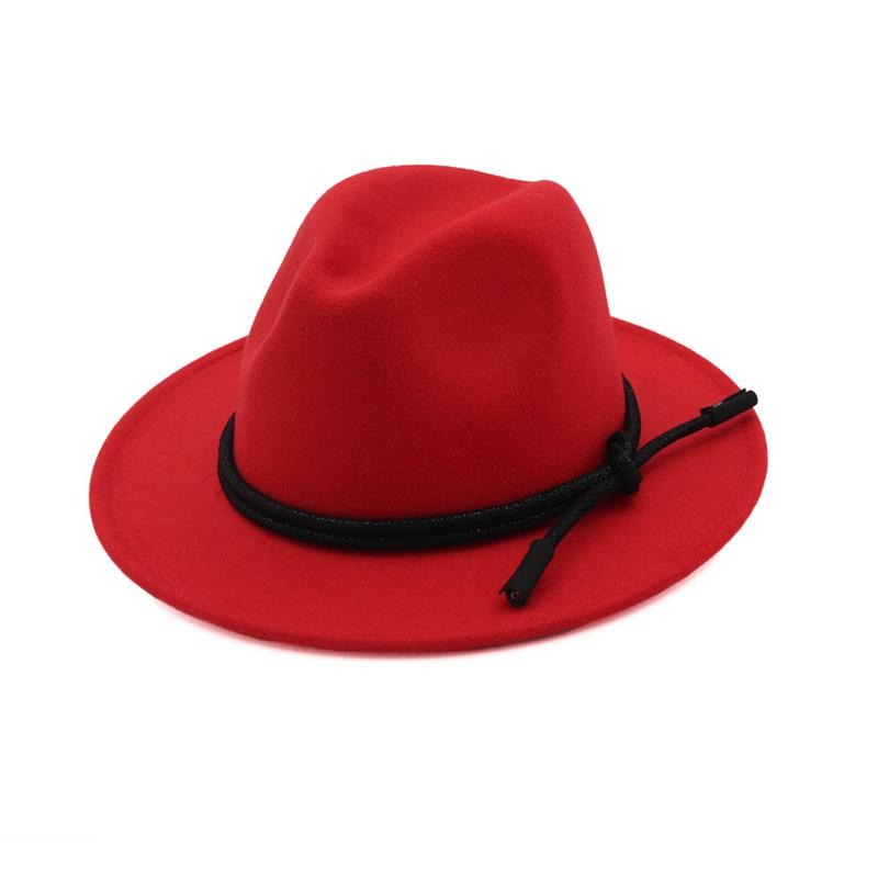Unisex Wool Fedora Hat Leather Rope Decorated Hawkins Felt Cap Wide Brim  Ladies Trilby Feminino Hat Women Men Jazz Hat Headwear Felt Hat From  Gslyy0712 6fbac75ae52
