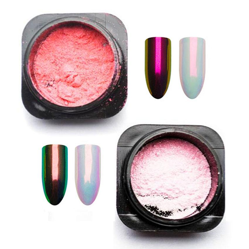 urora Glitter Power Mermaid Rainbow Pigment Chameleon Powder Mirror Unicorn Chrome Nail Art Decorations SF3023 Aurora Mermaid Nail Glit...