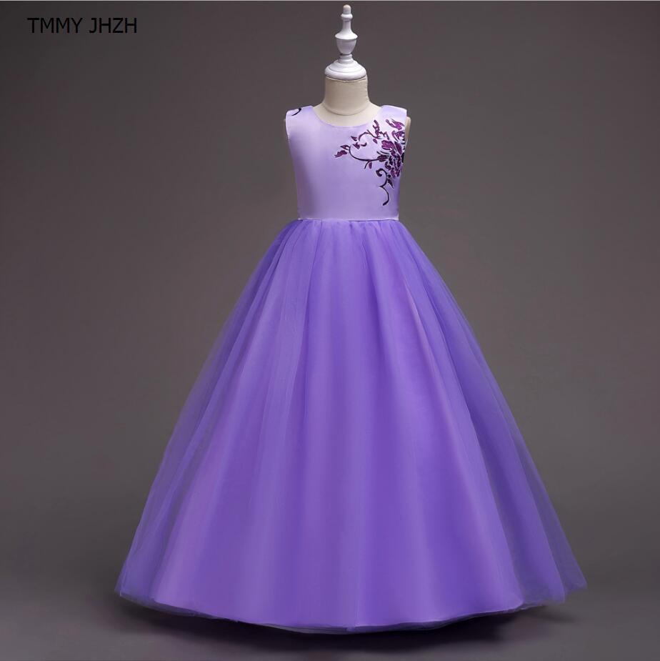 fc50b175f Compre Roupas Longo Vestido Crianças Lace Princesa Menina Vestido Para Festa  De Aniversário Do Casamento Menina Adolescente Crianças Vestidos De Baile  De ...