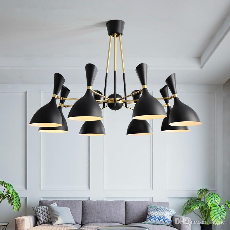 Ceiling Lights & Fans Post-modern Led Chandelier Wooden Bedroom Suspended Lighting Loft Novelty Fixtures Nordic Luminaires Living Room Hanging Lights Lights & Lighting