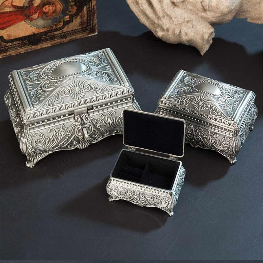 European Style Jewelry Storage Boxes Tray Ring Bracelet Gift Box Carved Jewellery Organizer Earring Necklace Holder Cases