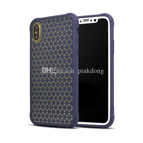 hybrid armor combo Grid Anti-Shock rubber rugged case cover shell for Samsung Galaxy S8 S8 Plus S9 S9 Plus Note8 Note9