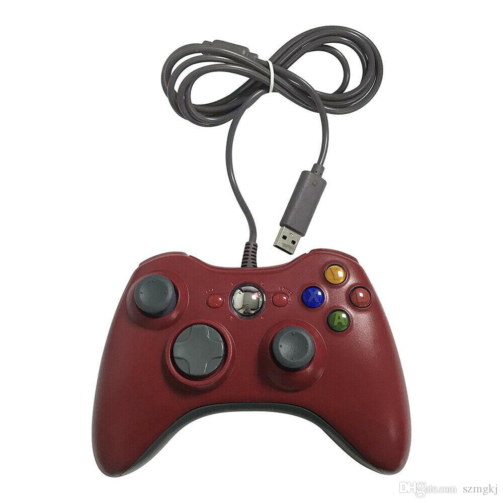 10pcs USB Wired Joypad Gamepad Black Game Controller For Xbox Slim 360 Joystick For Official Microsoft PC for Win 7 / 8 / 10