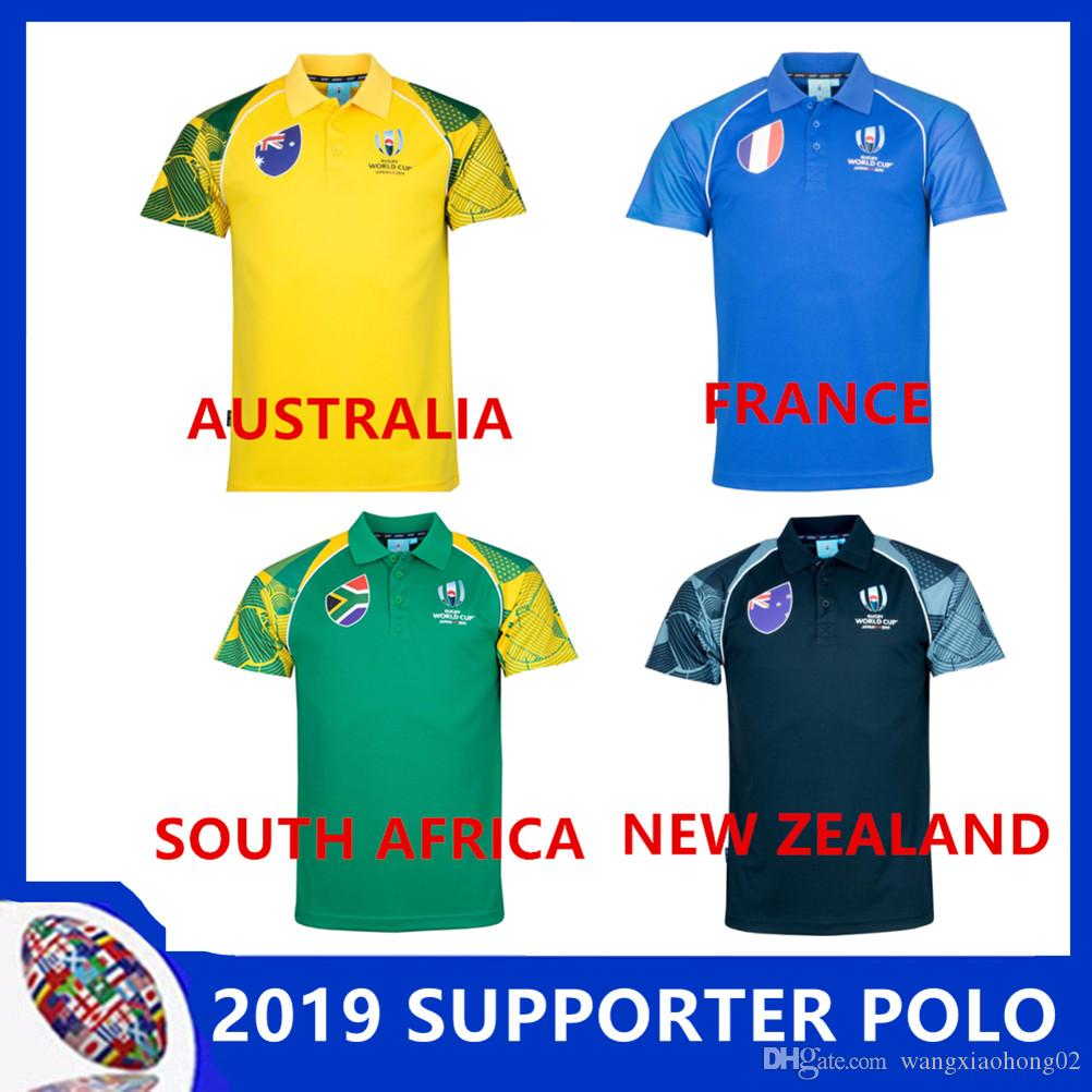 210a20028f6 AUSTRALIA RUGBY SUPPORTER POLO WALLABIES JERSEY 18 19 Rugby Jerseys NRL  National Rugby League Shirt Australian