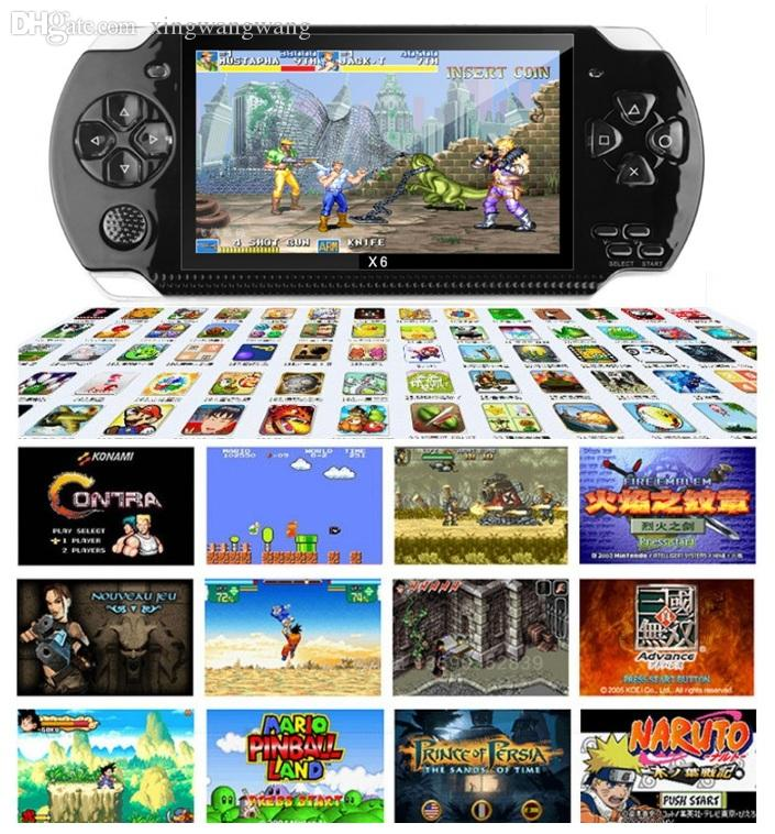 NEW 4.3 inch PMP X6 Handheld Game Console Screen For PSP Game Store Classic Games TV Output Portable Video Game Player 8GB