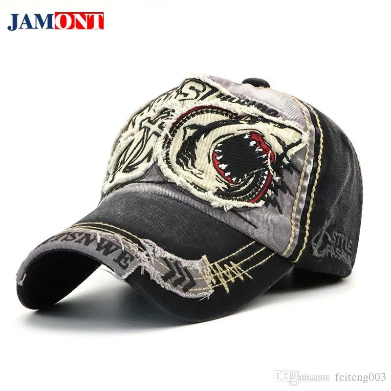 2018 Baseball Cap Dad Hat For Men Women Baseball Cap Cotton Shark ... 1046fdf3386e
