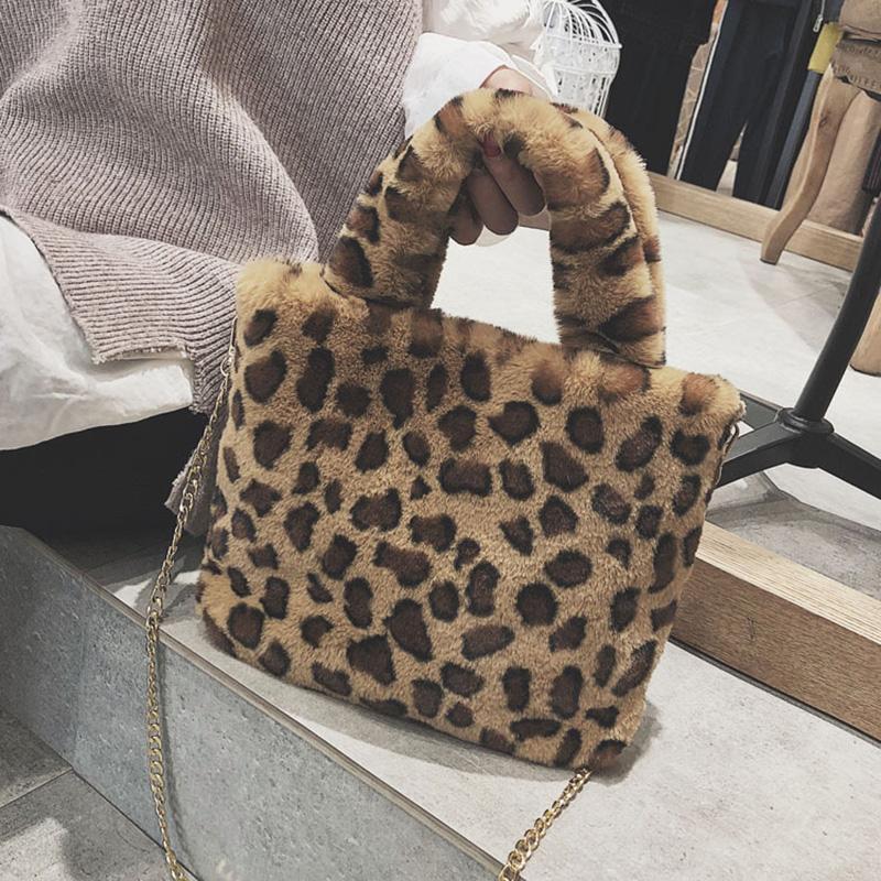 Soft Faux Fur Handbags And Purses For Women Winter Chain Crossbody Bags  Female Shoulder Bags Fashion Leopard Small Tote Discount Designer Handbags  Wholesale ... 5628007aefffd