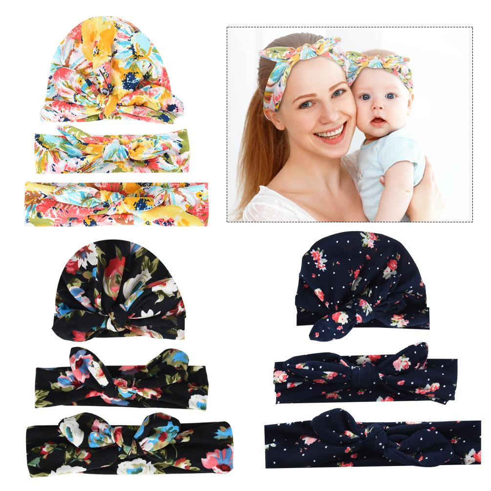 51ca3249d86 UNISTYLE Baby Mom Printing Headband Stretchy Baby Hat Knotted Head Wrap  Fashionable Head Bands Bun Maker Video Diy Bun Maker From Sophine06