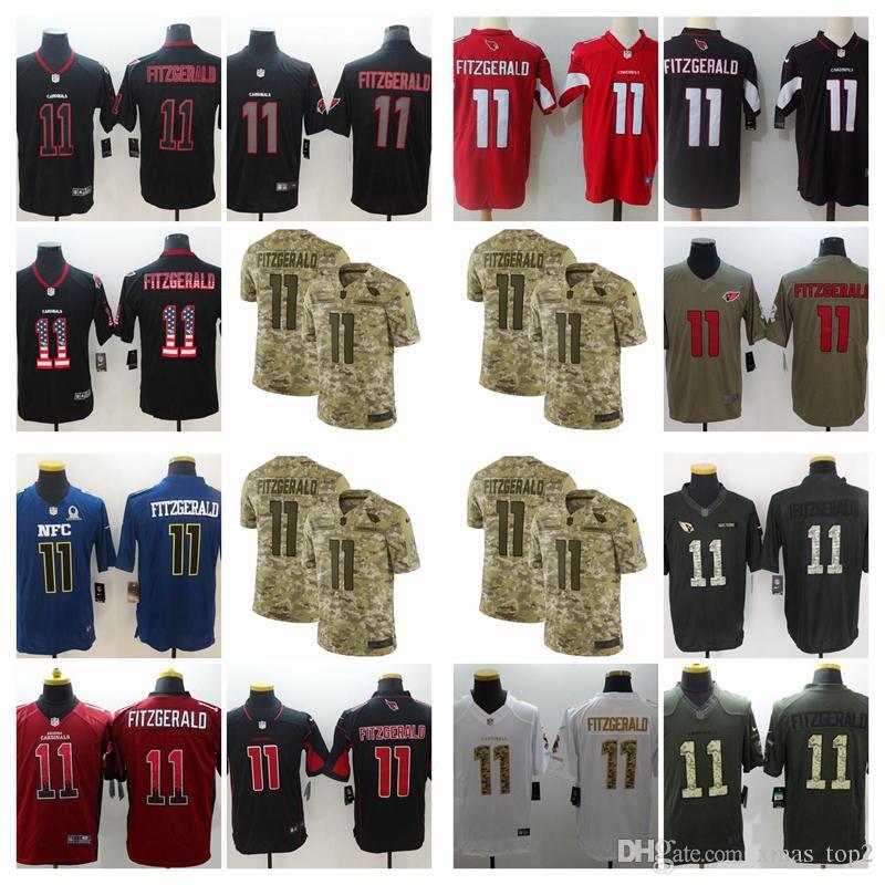 2019 Mens 11 Larry Fitzgerald Arizona Jersey Cardinals Football Jersey 100%  Stitched Embroidery Larry Fitzgerald Color Rush Football Shirts Navy Shirts  Nice ... 5da6a4427