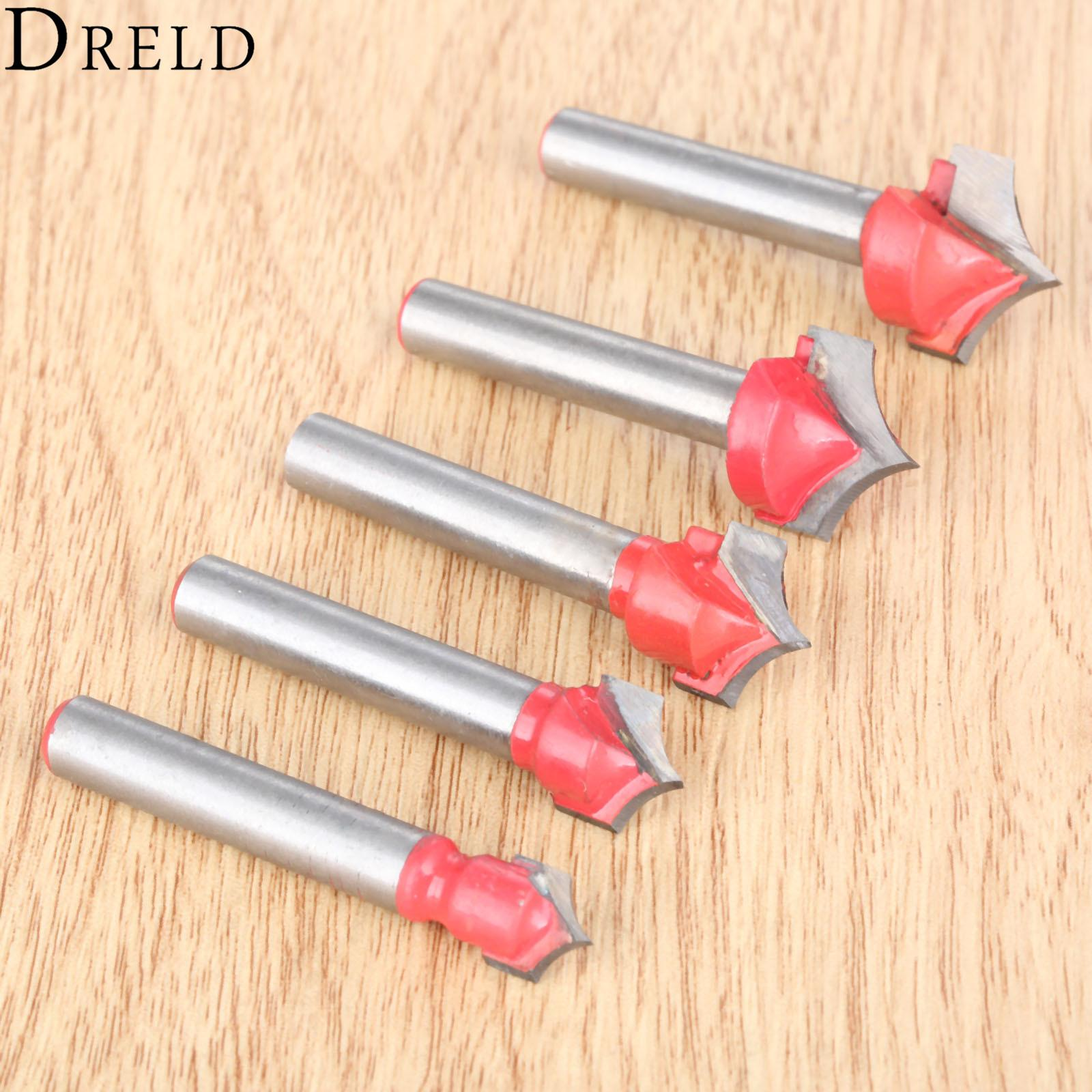 Milling Cutter DRELD 1pc 6mm Shank V Groove Router Bits CNC Engraving End  Mill Wood Carving Milling Cutter Wookwooking Carpentry Tools Fresa
