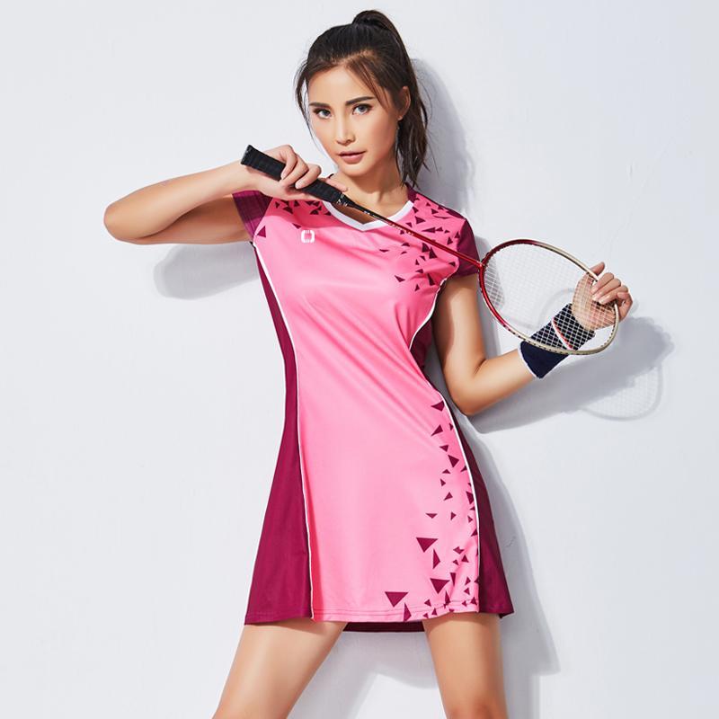 cheap for discount e4a52 f7a41 Abbigliamento da badminton Abito da donna Completo da asciugatura rapida  Badminton Abbigliamento sportivo Abbigliamento da tennis con short di ...