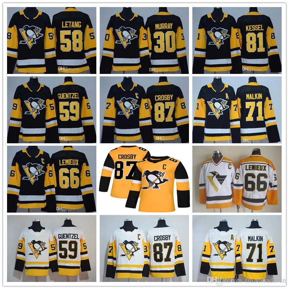 0f5b129fd Youth Mens Lady Pittsburgh Penguins 87 Sidney Crosby Mario Lemieux ...