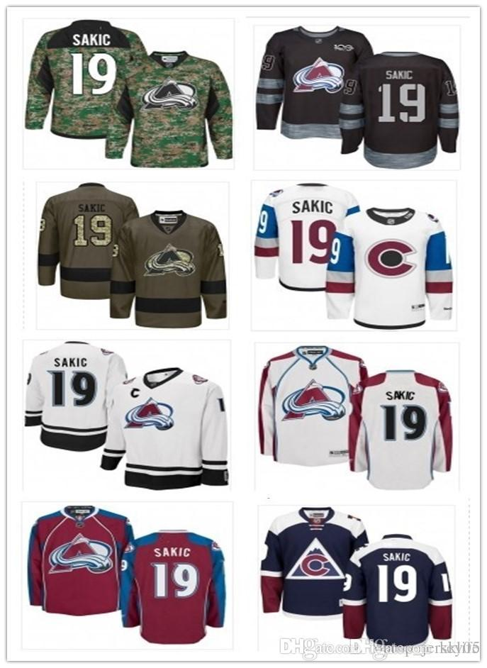 cheap for discount f6fb0 aa62b 2018 Colorado Avalanche Jerseys #19 Joe Sakic Jerseys men#WOMEN#YOUTH#Men's  Baseball Jersey Majestic Stitched Professional sportswear