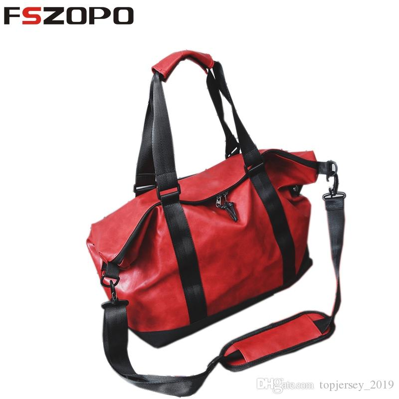 d7c43df857 2019 2018 Pu Leather Gym Male Bag Top Female Sport Shoe Bag For Women  Fitness Over The Shoulder Yoga Travel Handbag Multifunctio  200821 From  Topjersey 2019 ...